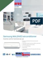 MS Samsung Comercial Maldives Airconditioner