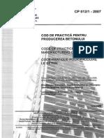 CP 012-1-2007 - Cod de Practica Pentru Producerea Betonului