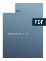 Oracle Primavera P6 Training Contents
