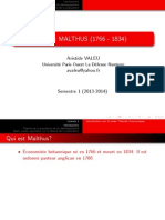 A Valeu l1 Introduction Aux Grandes Theories Economies Malthus 2013 14