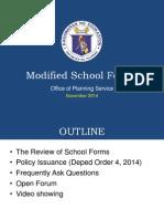 Modified School Forms Official Presentation Nov 2014