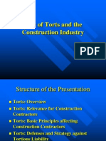 Presentation on Tort-Construction