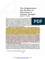 Enlightnment and Rise of Historicism