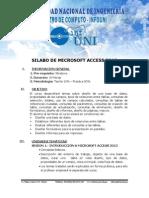 Silabo de microsoft Access 2013