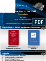 Course Introduction to Uvm Session8 Transactions Rsalemi