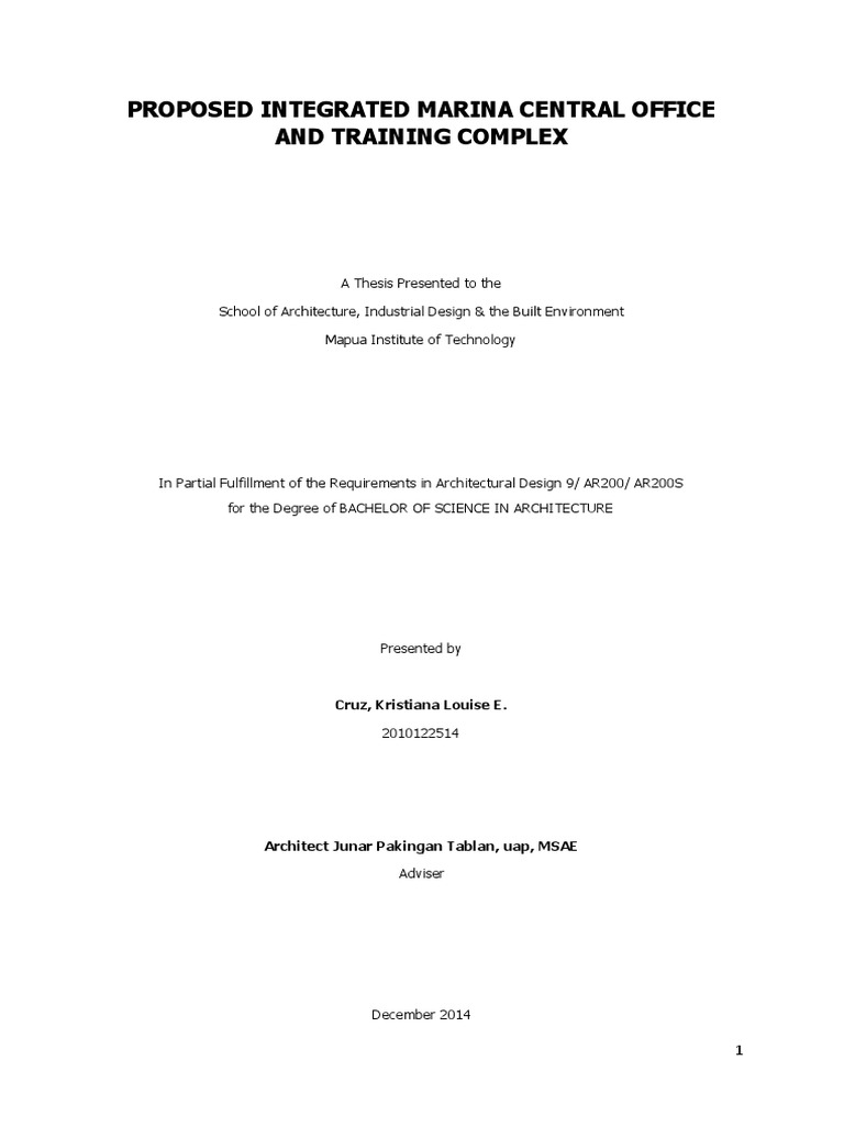mapua thesis archive