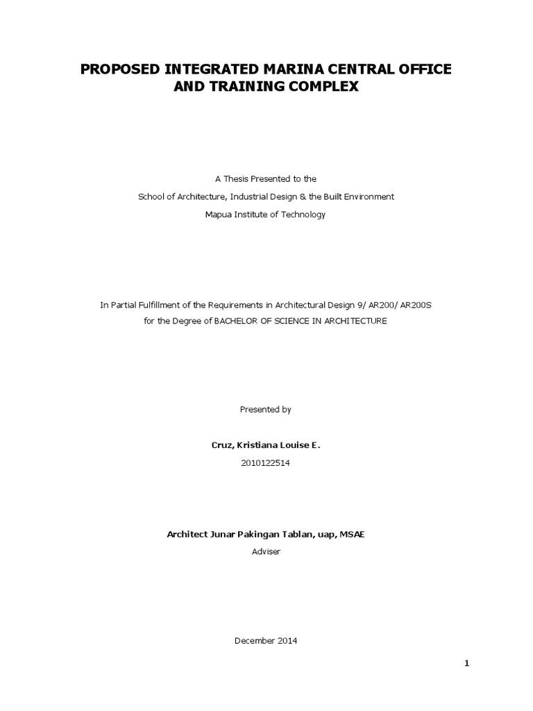 hotel thesis mapua