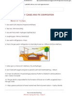 GK about Chemistry- Gases and its composition ~ PA EXAM 2014