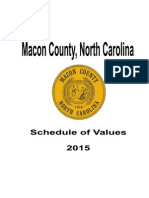 PURPOSED 2015 Macon Schedule of Values