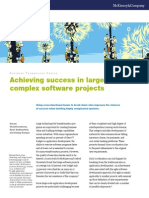 Achieving Success in Large Complex Software Projects