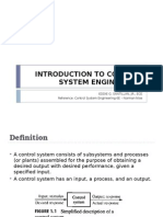 Week 1 - Intro to Control Systems