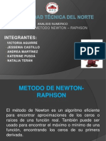 Exposicion Metodo Newton- Raphson