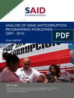 Analysis USAID Anticorruption Programming Worldwide Final Report 2007-2013