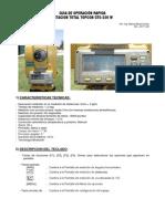 Guía Rapida Et Topcon Gts-236w