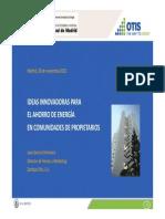 03 Eficiencia Energetica y Generacion de Energia en Los Ascensores OTIS Fenercom 2012