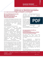 NICKERT Whitepaper AGB-mäßige Vereinbarung von Bearbeitungsentgelten für Darlehensverträge prinzipiell unwirksam