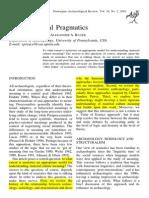 Arheoloogia Ja Pragmaatika 2001 Bauer