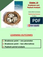Chapter 13 - Brerakeven Analysis