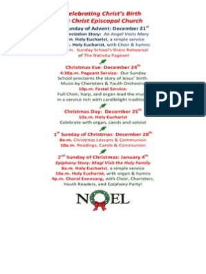 Christmas Lessons For Sunday School.Christmas Schedule 2014