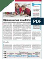 Hijos autónomos, niños felices.LVE.3 y 10.12.2014