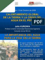 Calentamiento Global de La Tierra y La Crisis Del Agua en El