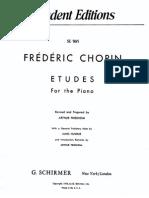 Chopin Complete Etudes Schirmer Friedheim