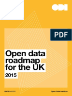 Open data roadmap for the UK - 2015