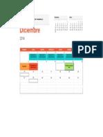 Calendario de Actividades Proyecsto