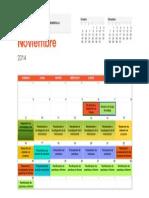 Calendario de Actividades Proyectod