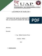 INFORME SUELOS CALICATA