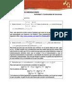 Sugerencias y Recomendaciones Act. 3. Continuidad de Funciones