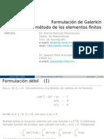 Formulación de Galerkin