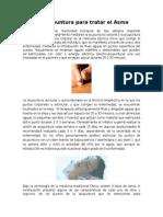 La Acupuntura en El Tratamiento Del Asma