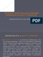 Avenue of Work for a Civil Engineer