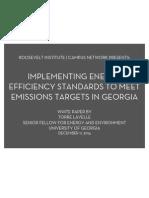 Implementing Energy Efficiency Standards to Meet Emissions Targets in Georgia
