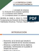 Tema 1 La Empresa Como Realidad Socioeconómica