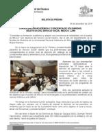 04 de dic de 2014_CONSOLIDACIÓN ACADÉMICA Y CONCIENCIA DE SOLIDARIDAD, OBJETIVOS DEL SERVICIO SOCIAL MÉDICO, JJMR.doc