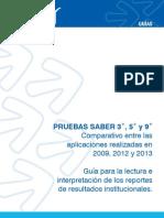 Guía Paralaboratorio clinico La Interpretación de Resultados Institucionales Saber 359 Comparativo