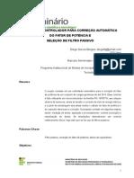 MICROCONTROLADOR PARA CORREÇÃO AUTOMÁTICA DO FATOR DE POTÊNCIA E SELEÇÃO DE FILTRO PASSIVO