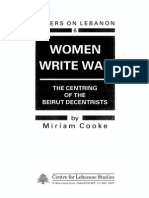 Miriam Cooke - Women Write War (the Centring of the Beirut Descentrists)