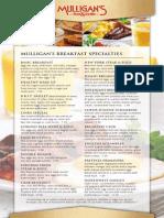 Mulligan's Breakfast Menu