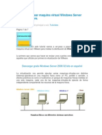 Tutorial Para Crear Maquina Virtual Windows Server 2008 Con VMware