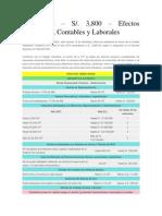 UIT 2014 Efectos Tributarios, Contables y Laborales