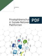 Privatsphärenschutz in Soziale-NetzwerkePlattformen