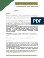 El Ideario Socialista en La Universidad Argentina y Españ Apuntes Para Una Educacion Compartida