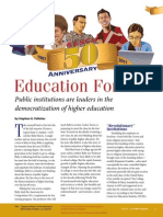 Education for All Public Institutions Are Leaders in the Democratizarion of Higher Education