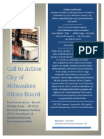 OPEN LETTER - Ethics Committee - City of Milwaukee - Russell Stamper II - DeCEMBER 10 EDITION
