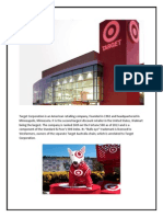 Target Corporation is an American Retailing Company