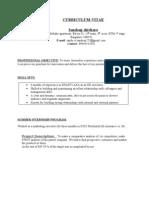 Sandy Final Resume