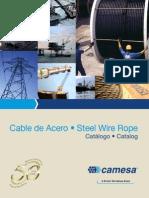 Catalogo de cable de acero Camesa